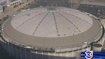 File picture of the Astrodome which could soon be named a state antiquities landmark to save it from demolition