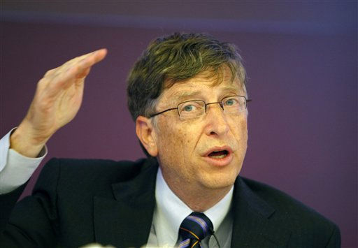 "<div class=""meta ""><span class=""caption-text "">#1 on Forbes list is Bill Gates: Microsoft founder Bill Gates addresses a press conference in New Delhi, India, Wednesday, Nov. 5, 2008. Gates spoke at length and answered journalists' queries about the Bill and Melinda Gates Foundation's involvement with polio eradication in India as well as other health programs. (AP Photo/Saurabh Das) (AP Photo/ Saurabh Das)</span></div>"