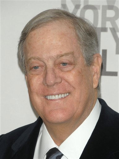 #5 &#40;tie&#41; on Forbes list is David Koch: David Koch attends the opening night of the New York City Ballet in New York on Tuesday, Nov. 25, 2008.  &#40;AP Photo&#47;Peter Kramer&#41; <span class=meta>(AP Photo&#47; Peter Kramer)</span>