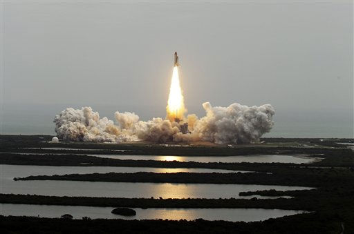 The space shuttle Atlantis lifts off from the Kennedy Space Center Friday, July 8, 2011, in Cape Canaveral, Fla. Atlantis is the 135th and final space shuttle launch for NASA.  <span class=meta>(AP Photo&#47; Chris O&#39;Meara)</span>