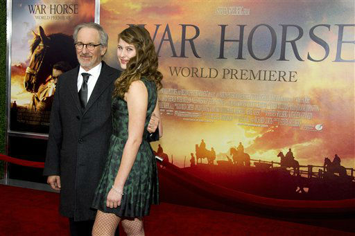 Steven Spielberg and his daughter Destry Allyn Spielberg attend the world premiere of &#34;War Horse&#34;, in New York, Sunday, Dec. 4, 2011.   <span class=meta>(AP Photo&#47; Charles Sykes)</span>