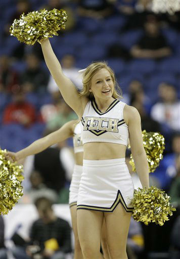 A Georgia Tech cheerleader performs during the first half of an NCAA college basketball game against Boston College at the Atlantic Coast Conference tournament in Greensboro, N.C., Thursday, March 14, 2013. &#40;AP Photo&#47;Bob Leverone&#41; <span class=meta>(AP Photo&#47; Bob Leverone)</span>