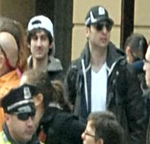 This photo released by the FBI early Friday April 19, 2013, shows what the FBI is calling the suspects together,  walking through the crowd in Boston on Monday, April 15, 2013, before the explosions at the Boston Marathon.   <span class=meta>(AP Photo&#47; Uncredited)</span>