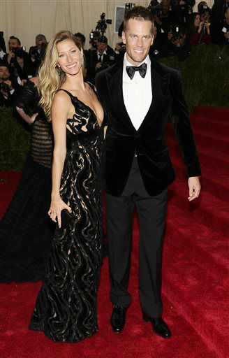Gisele Bundchen and Tom Brady attend The Metropolitan Museum of Art&#39;s Costume Institute benefit gala celebrating &#34;Charles James: Beyond Fashion&#34; on Monday, May 5, 2014, in New York.  <span class=meta>(Photo&#47;Charles Sykes)</span>