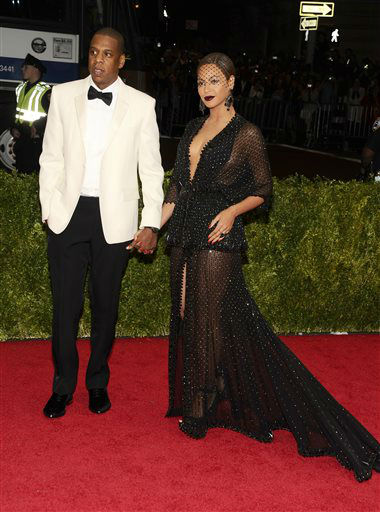 Jay-Z and Beyonce attend The Metropolitan Museum of Art&#39;s Costume Institute benefit gala celebrating &#34;Charles James: Beyond Fashion&#34; on Monday, May 5, 2014, in New York. <span class=meta>(Photo&#47;Charles Sykes)</span>