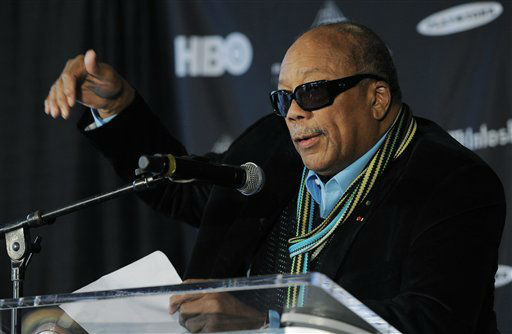 Rock and Roll Hall of Fame inductee Quincy Jones speaks to reporters at a news conference to announce the 2013 inductees, Tuesday, Dec. 11, 2012, in Los Angeles. The 28th Annual Rock and Roll Hall of Fame Induction Ceremony will be held at the Nokia Theatre L.A. Live in Los Angeles on April 18, 2013. &#40;Photo by Chris Pizzello&#47;Invision&#47;AP&#41; <span class=meta>(Photo&#47;Chris Pizzello)</span>