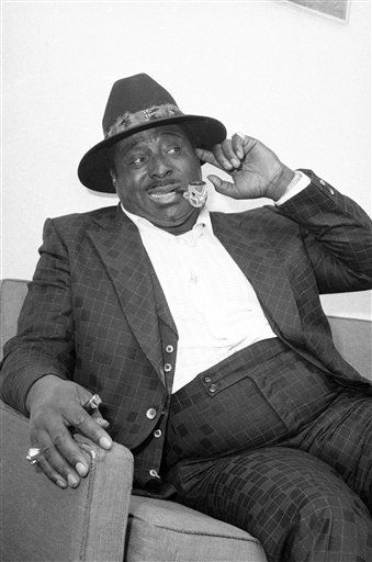Blues Singer Albert King relaxes in his agent?s midtown Manhattan office in New York on Nov. 8, 1976 where the 52-year-old entertainer spoke about the blues and the 30 years it took for him to make it. Despite the current disco sound Mania, king seems to the succeeding in putting the blues back in the mainstream of American music. His album is climbing the charts and he?s making appearances to packed clubs and halls across the nation. &#40;AP Photo&#47;Ray Howard&#41; <span class=meta>(AP Photo&#47; Ray Howard)</span>