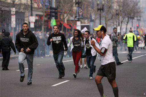 "<div class=""meta image-caption""><div class=""origin-logo origin-image ""><span></span></div><span class=""caption-text"">In this photo provided by The Daily Free Press and Kenshin Okubo, people react to an explosion at the 2013 Boston Marathon in Boston, Monday, April 15, 2013. Two explosions shattered the euphoria of the Boston Marathon finish line on Monday, sending authorities out on the course to carry off the injured while the stragglers were rerouted away from the smoking site of the blasts.   (AP Photo/The Daily Free Press, Kenshin Okubo)</span></div>"