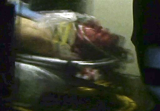 "<div class=""meta ""><span class=""caption-text "">ALTERNATE CROP - This still frame from video shows Boston Marathon bombing suspect Dzhokhar Tsarnaev visible through an ambulance after he was captured in Watertown, Mass., Friday, April 19, 2013. The 19-year-old college student wanted in the Boston Marathon bombings was taken into custody Friday evening after a manhunt that left the city virtually paralyzed and his older brother and accomplice dead.   (AP Photo/ Robert Ray)</span></div>"