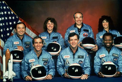 This is the official NASA photo of the crew of the space shuttle Challenger mission 51L. All seven members of the crew were killed when the shuttle exploded during launch on Jan. 28, 1986. From front left, are: astronauts Michael J. Smith, Francis R. &#40;Dick&#41; Scobee, and Ronald E. McNair. Rear left are: Ellison Onizuka, Christa McAuliffe, Gregory Jarvis and Judith Resnik.  <span class=meta>(AP Photo&#47; NASA)</span>