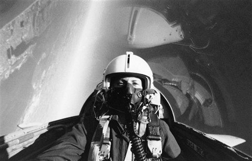 "<div class=""meta ""><span class=""caption-text "">In this photo provided by NASA, Sharon Christa McAuliffe rides in a T-38 trainer jet over Galveston Bay during training for the launch of Space Shuttle Challenger mission 51-L. Part of Galveston Island and the Houston, Texas metropolitan area can be seen in background at top left, Jan. 16, 1986. McAuliffe, of Concord, N.H. will represent the Teacher in Space Project aboard the Challenger. (AP Photo/ NASA)</span></div>"
