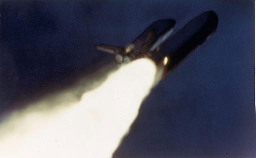 A strange plume of flame is seen on the right side of the rocket booster of the space shuttle Challenger seconds after launching, Jan. 28, 1986, before the explosion that destroyed the space shuttle, which carried a crew of seven.  <span class=meta>(AP Photo&#47; NASA)</span>