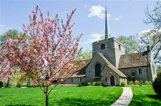 This undated handout photo provided by the National Trust For Historic Preservation shows the Mariemont Community Church in the village of Mariemont, Ohio. The Village of Mariemont outside of Cincinnati is listed as one of America?s most endangered historic places. &#40;AP Photo&#47;National Trust For Historic Preservation, Steve Spooner&#41; <span class=meta>(AP Photo&#47; Steve Spooner)</span>