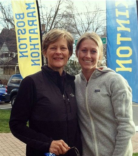 In this photo made on marathon weekend and made available by Brian Gross shows his sister-in -law Nicole Gross, right, with her mother Carol Downing. Nicole Gross, and her husband Michael Gross of Charlotte, N.C. were seriously injured when two bombs exploded near the finish line of the Boston Marathon Monday, April 15, 2013. The Gross couple and Nicole&#39;s sister, Erica Brannock of Maryland, who was also injured while cheering Downing, who was running the race. Downing was not injured. &#40;AP Photo&#47;courtesy of Brian Gross&#41; <span class=meta>(AP Photo&#47; Uncredited)</span>