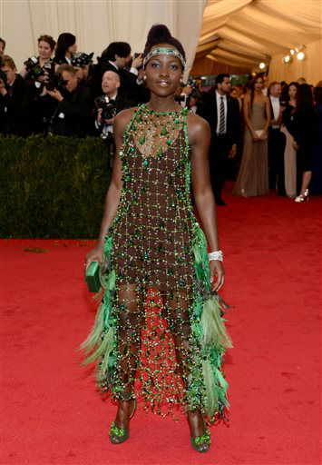 Lupita Nyong&#39;o attends The Metropolitan Museum of Art&#39;s Costume Institute benefit gala celebrating &#34;Charles James: Beyond Fashion&#34; on Monday, May 5, 2014, in New York.  <span class=meta>(Photo&#47;Evan Agostini)</span>