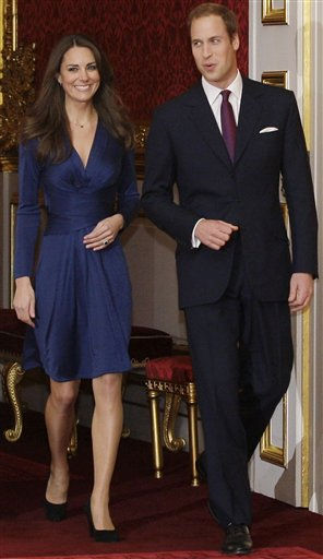 FILE - This is a Tuesday Nov. 16, 2010, file photo of  Britain&#39;s Prince William and his fiancee Kate Middleton arrive for a media photocall, media at St. James&#39;s Palace in London, Tuesday Nov. 16, 2010, after they announced their engagement. The couple are to wed in 2011.  The wedding of Britain&#39;s Prince William and Kate Middleton is in 100 days time on April 29, 2011. &#40;AP Photo&#47;Sang Tan, File&#41; <span class=meta>(AP Photo&#47; Sang Tan)</span>