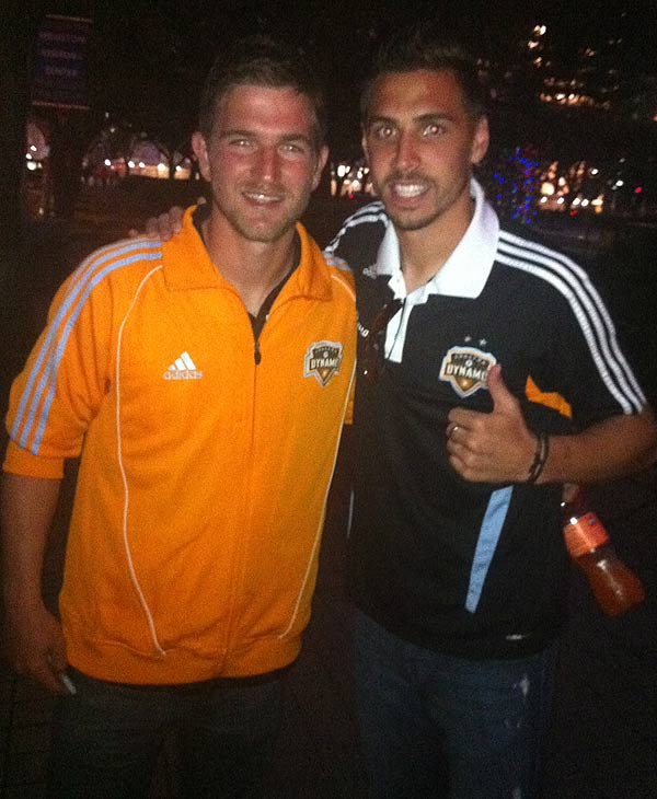 Dynamo fans rallied for the team Wednesday at...