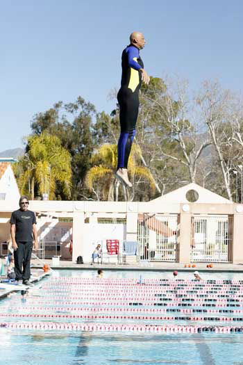 SPLASH - &#34;Splash&#34; marks the first time 10 celebrities will train and compete in regulation platform and springboard diving at dizzying heights in front of a weekly poolside audience. Leading up to the competition, the world&#39;s most decorated and medaled diving legend, Greg Louganis, will give each celebrity weeks of training. Each dive will be critiqued by the judges, London Olympic U.S. Gold medalist David Boudia and Australian Olympic athlete and USA Dive Team director Steve Foley. &#34;Splash&#34; premieres TUESDAY, MARCH 19 &#40;8:00-9:00 p.m., ET&#41; on The ABC Television Network. &#40;ABC&#47;Kelsey McNeal&#41; KAREEM ABDUL-JABBAR <span class=meta>(Photo&#47;Kelsey McNeal)</span>