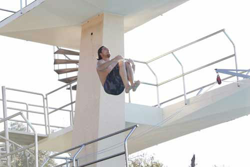"<div class=""meta image-caption""><div class=""origin-logo origin-image ""><span></span></div><span class=""caption-text"">SPLASH - ""Splash"" marks the first time 10 celebrities will train and compete in regulation platform and springboard diving at dizzying heights in front of a weekly poolside audience. Leading up to the competition, the world's most decorated and medaled diving legend, Greg Louganis, will give each celebrity weeks of training. Each dive will be critiqued by the judges, London Olympic U.S. Gold medalist David Boudia and Australian Olympic athlete and USA Dive Team director Steve Foley. ""Splash"" premieres TUESDAY, MARCH 19 (8:00-9:00 p.m., ET) on The ABC Television Network. (ABC/Kelsey McNeal) RORY BUSHFIELD (Photo/Kelsey McNeal)</span></div>"