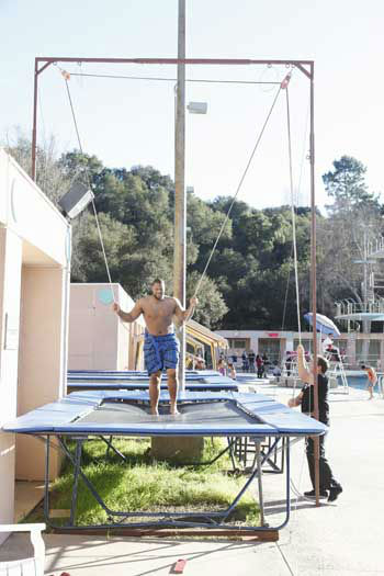 "<div class=""meta ""><span class=""caption-text "">SPLASH - ""Splash"" marks the first time 10 celebrities will train and compete in regulation platform and springboard diving at dizzying heights in front of a weekly poolside audience. Leading up to the competition, the world's most decorated and medaled diving legend, Greg Louganis, will give each celebrity weeks of training. Each dive will be critiqued by the judges, London Olympic U.S. Gold medalist David Boudia and Australian Olympic athlete and USA Dive Team director Steve Foley. ""Splash"" premieres TUESDAY, MARCH 19 (8:00-9:00 p.m., ET) on The ABC Television Network. (ABC/KELSEY MCNEAL) NDAMUKONG SUH (Photo/Kelsey McNeal)</span></div>"