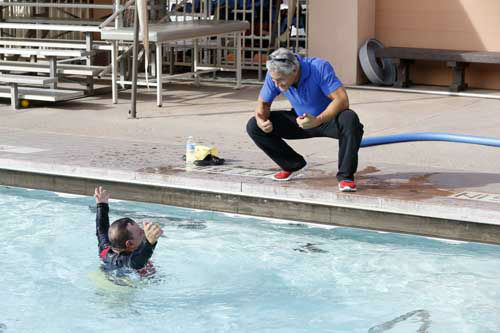 "<div class=""meta image-caption""><div class=""origin-logo origin-image ""><span></span></div><span class=""caption-text"">SPLASH - ""Splash"" marks the first time 10 celebrities will train and compete in regulation platform and springboard diving at dizzying heights in front of a weekly poolside audience. Leading up to the competition, the world's most decorated and medaled diving legend, Greg Louganis, will give each celebrity weeks of training. Each dive will be critiqued by the judges, London Olympic U.S. Gold medalist David Boudia and Australian Olympic athlete and USA Dive Team director Steve Foley. ""Splash"" premieres TUESDAY, MARCH 19 (8:00-9:00 p.m., ET) on The ABC Television Network. (ABC/KELSEY MCNEAL) CHUY BRAVO, GREG LOUGANIS (Photo/Kelsey McNeal)</span></div>"