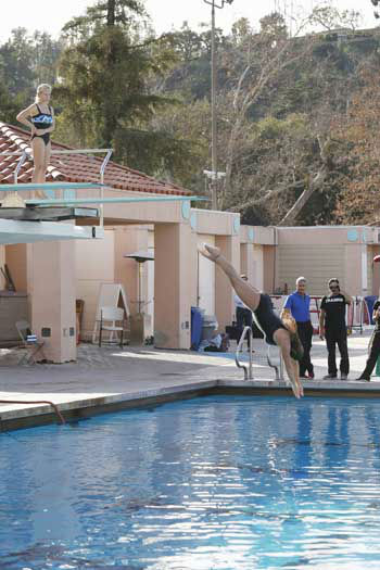 "<div class=""meta image-caption""><div class=""origin-logo origin-image ""><span></span></div><span class=""caption-text"">SPLASH - ""Splash"" marks the first time 10 celebrities will train and compete in regulation platform and springboard diving at dizzying heights in front of a weekly poolside audience. Leading up to the competition, the world's most decorated and medaled diving legend, Greg Louganis, will give each celebrity weeks of training. Each dive will be critiqued by the judges, London Olympic U.S. Gold medalist David Boudia and Australian Olympic athlete and USA Dive Team director Steve Foley. ""Splash"" premieres TUESDAY, MARCH 19 (8:00-9:00 p.m., ET) on The ABC Television Network. (ABC/KELSEY MCNEAL) KENDRA WILKINSON, NICOLE EGGERT, GREG LOUGANIS (Photo/Kelsey McNeal)</span></div>"