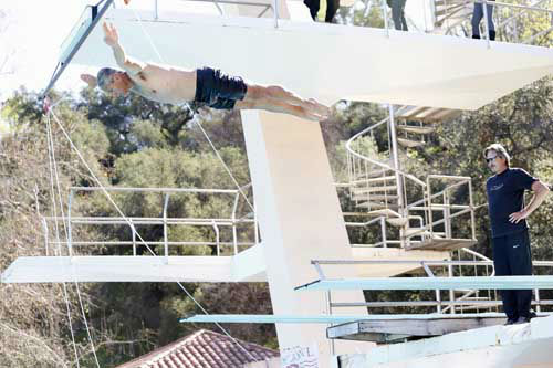"<div class=""meta ""><span class=""caption-text "">SPLASH - ""Splash"" marks the first time 10 celebrities will train and compete in regulation platform and springboard diving at dizzying heights in front of a weekly poolside audience. Leading up to the competition, the world's most decorated and medaled diving legend, Greg Louganis, will give each celebrity weeks of training. Each dive will be critiqued by the judges, London Olympic U.S. Gold medalist David Boudia and Australian Olympic athlete and USA Dive Team director Steve Foley. ""Splash"" premieres TUESDAY, MARCH 19 (8:00-9:00 p.m., ET) on The ABC Television Network. (ABC/Kelsey McNeal) GREG LOUGANIS (Photo/Kelsey McNeal)</span></div>"
