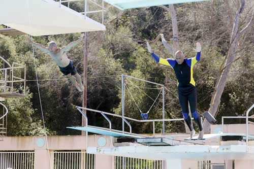"<div class=""meta image-caption""><div class=""origin-logo origin-image ""><span></span></div><span class=""caption-text"">SPLASH - ""Splash"" marks the first time 10 celebrities will train and compete in regulation platform and springboard diving at dizzying heights in front of a weekly poolside audience. Leading up to the competition, the world's most decorated and medaled diving legend, Greg Louganis, will give each celebrity weeks of training. Each dive will be critiqued by the judges, London Olympic U.S. Gold medalist David Boudia and Australian Olympic athlete and USA Dive Team director Steve Foley. ""Splash"" premieres TUESDAY, MARCH 19 (8:00-9:00 p.m., ET) on The ABC Television Network. (ABC/Kelsey McNeal) GREG LOUGANIS, KAREEM ABDUL-JABBAR (Photo/Kelsey McNeal)</span></div>"