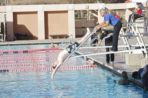 "<div class=""meta image-caption""><div class=""origin-logo origin-image ""><span></span></div><span class=""caption-text"">SPLASH - ""Splash"" marks the first time 10 celebrities will train and compete in regulation platform and springboard diving at dizzying heights in front of a weekly poolside audience. Leading up to the competition, the world's most decorated and medaled diving legend, Greg Louganis, will give each celebrity weeks of training. Each dive will be critiqued by the judges, London Olympic U.S. Gold medalist David Boudia and Australian Olympic athlete and USA Dive Team director Steve Foley. ""Splash"" premieres TUESDAY, MARCH 19 (8:00-9:00 p.m., ET) on The ABC Television Network. (ABC/KELSEY MCNEAL) DRAKE BELL, GREG LOUGANIS (Photo/Kelsey McNeal)</span></div>"