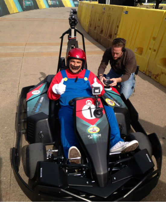 "<div class=""meta image-caption""><div class=""origin-logo origin-image ""><span></span></div><span class=""caption-text"">Jimmy Kimmel's sidekick, Guillermo, takes to the track at SXSW (Photo/ABC13)</span></div>"