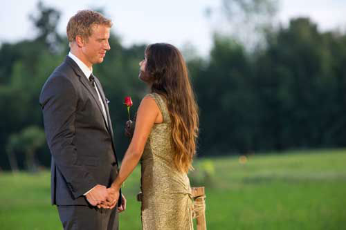 n the dramatic Season Finale, Sean made one of the most difficult choices of this life. After having his family meet both women in spectacular Chiang Rai, Thailand, and under immense pressure, he made one final, heart-wrenching decision and chose and fell in love with Catherine Giudici, on the Season Finale of &#34;The Bachelor,&#34; MONDAY, MARCH 11  <span class=meta>(Photo&#47;Dave Hagerman)</span>