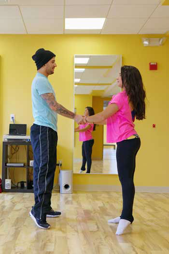 "<div class=""meta ""><span class=""caption-text "">DANCING WITH THE STARS - REHEARSALS - This season's dynamic lineup of stars  will perform for the first time on live national television with their professional partners during the two-hour season premiere of ""Dancing with the Stars,"" MONDAY, MARCH 18 (8:00-10:01 p.m., ET) on the ABC Television Network. (ABC/Claire Folger) MARK BALLAS, ALEXANDRA RAISMAN (Photo/Claire Folger)</span></div>"