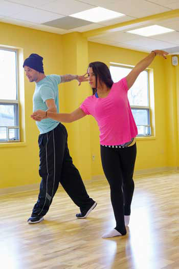 "<div class=""meta image-caption""><div class=""origin-logo origin-image ""><span></span></div><span class=""caption-text"">DANCING WITH THE STARS - REHEARSALS - This season's dynamic lineup of stars  will perform for the first time on live national television with their professional partners during the two-hour season premiere of ""Dancing with the Stars,"" MONDAY, MARCH 18 (8:00-10:01 p.m., ET) on the ABC Television Network. (ABC/Claire Folger) MARK BALLAS, ALEXANDRA RAISMAN (Photo/Claire Folger)</span></div>"