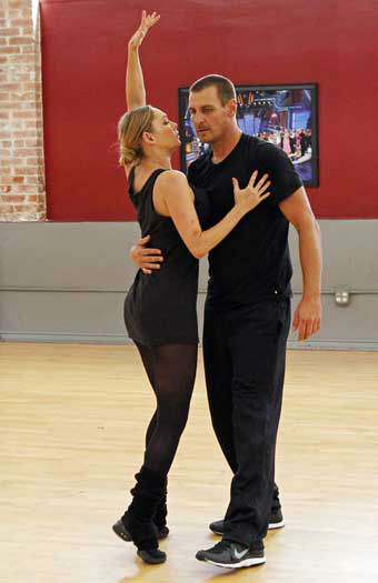 DANCING WITH THE STARS - REHEARSALS - This season&#39;s dynamic lineup of stars  will perform for the first time on live national television with their professional partners during the two-hour season premiere of &#34;Dancing with the Stars,&#34; MONDAY, MARCH 18 &#40;8:00-10:01 p.m., ET&#41; on the ABC Television Network. &#40;ABC&#47;Rick Rowell&#41; KYM JOHNSON, INGO RADEMACHER <span class=meta>(Photo&#47;Rick Rowell)</span>