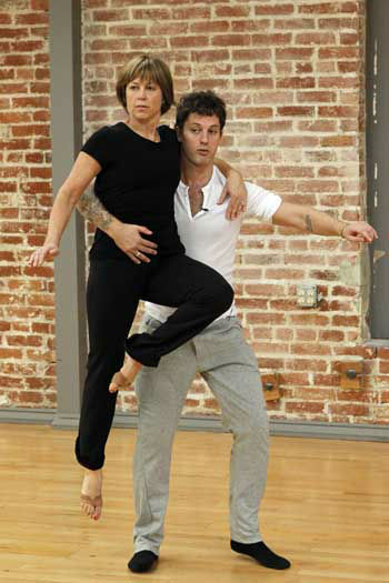 "<div class=""meta image-caption""><div class=""origin-logo origin-image ""><span></span></div><span class=""caption-text"">DANCING WITH THE STARS - REHEARSALS - This season's dynamic lineup of stars  will perform for the first time on live national television with their professional partners during the two-hour season premiere of ""Dancing with the Stars,"" MONDAY, MARCH 18 (8:00-10:01 p.m., ET) on the ABC Television Network. (ABC/Rick Rowell) DOROTHY HAMILL, TRISTAN MACMANUS (Photo/Rick Rowell)</span></div>"
