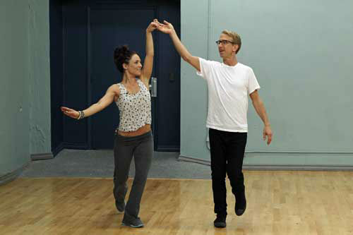 "<div class=""meta image-caption""><div class=""origin-logo origin-image ""><span></span></div><span class=""caption-text"">DANCING WITH THE STARS - REHEARSALS - This season's dynamic lineup of stars  will perform for the first time on live national television with their professional partners during the two-hour season premiere of ""Dancing with the Stars,"" MONDAY, MARCH 18 (8:00-10:01 p.m., ET) on the ABC Television Network. (ABC/Rick Rowell) SHARNA BURGESS, ANDY DICK (Photo/Rick Rowell)</span></div>"