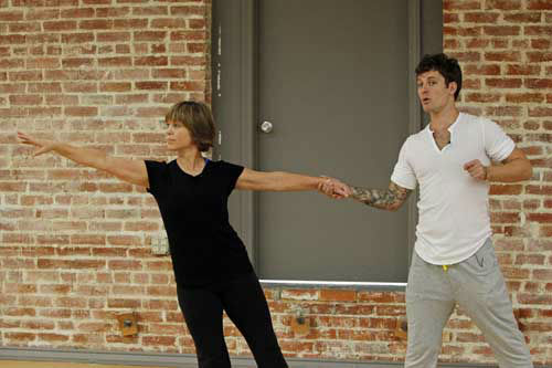 "<div class=""meta ""><span class=""caption-text "">DANCING WITH THE STARS - REHEARSALS - This season's dynamic lineup of stars  will perform for the first time on live national television with their professional partners during the two-hour season premiere of ""Dancing with the Stars,"" MONDAY, MARCH 18 (8:00-10:01 p.m., ET) on the ABC Television Network. (ABC/Rick Rowell) DOROTHY HAMILL, TRISTAN MACMANUS (Photo/Rick Rowell)</span></div>"