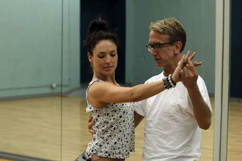 "<div class=""meta image-caption""><div class=""origin-logo origin-image ""><span></span></div><span class=""caption-text"">DANCING WITH THE STARS - REHEARSALS - This season's dynamic lineup of stars  will perform for the first time on live national television with their professional partners during the two-hour season premiere of ""Dancing with the Stars,"" MONDAY, MARCH 18 (8:00-10:01 p.m., ET) on the ABC Television Network. (ABC/Rick Rowell) SHARNA BURGESS, ANDY DICK (ABC Photo/ Rick Rowell)</span></div>"