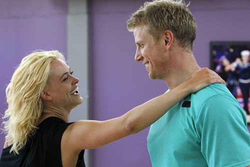 "<div class=""meta ""><span class=""caption-text "">DANCING WITH THE STARS - REHEARSALS - This season's dynamic lineup of stars  will perform for the first time on live national television with their professional partners during the two-hour season premiere of ""Dancing with the Stars,"" MONDAY, MARCH 18 (8:00-10:01 p.m., ET) on the ABC Television Network. (ABC/Rick Rowell) PETA MURGATROYD, SEAN LOWE (ABC Photo/ Rick Rowell)</span></div>"