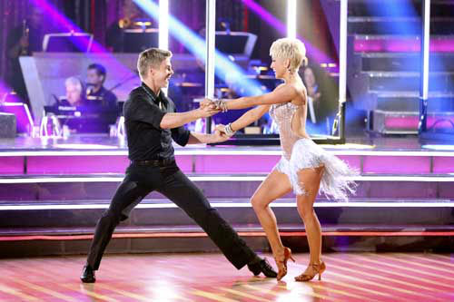 "<div class=""meta ""><span class=""caption-text "">DANCING WITH THE STARS - ""Episode 1601"" -- ""Dancing with the Stars"" was back with an all-new cast of fresh faces hitting the dance floor. The competition began with the two-hour Season 16 premiere, live, MONDAY, MARCH 18 (8:00-10:01 p.m., ET) on the ABC Television Network.   (ABC/Adam Taylor) DEREK HOUGH, KELLIE PICKLER (Photo/Adam Taylor)</span></div>"