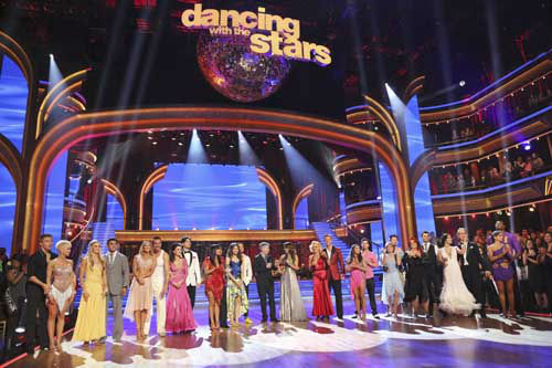 "<div class=""meta ""><span class=""caption-text "">DANCING WITH THE STARS - ""Episode 1601"" -- ""Dancing with the Stars"" was back with an all-new cast of fresh faces hitting the dance floor. The competition began with the two-hour Season 16 premiere, live, MONDAY, MARCH 18 (8:00-10:01 p.m., ET) on the ABC Television Network.   (ABC/Adam Taylor) DEREK HOUGH, KELLIE PICKLER, LINDSAY ARNOLD, VICTOR ORTIZ, KYM JOHNSON, INGO RADEMACHER, LISA VANDERPUMP, GLEB SAVCHENKO, CHERYL BURKE, ZENDAYA, VAL CHMERKOVSKIY, TOM BERGERON, BROOKE BURKE-CHARVET, PETA MURGATROYD, SEAN LOWE, ALEXANDRA RAISMAN, MARK BALLAS, DOROTHY HAMILL, WYNONNA JUDD, TONY DOVOLANI, SHARNA BURGESS, ANDY DICK, KARINA SMIRNOFF, JACOBY JONES (Photo/Adam Taylor)</span></div>"