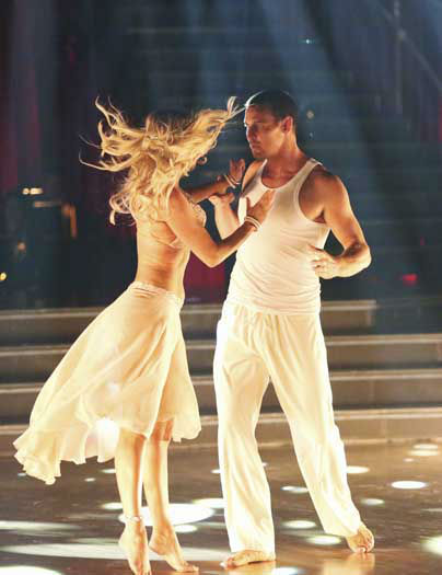 "<div class=""meta image-caption""><div class=""origin-logo origin-image ""><span></span></div><span class=""caption-text"">DANCING WITH THE STARS - ""Episode 1601"" -- ""Dancing with the Stars"" was back with an all-new cast of fresh faces hitting the dance floor. The competition began with the two-hour Season 16 premiere, live, MONDAY, MARCH 18 (8:00-10:01 p.m., ET) on the ABC Television Network.   (ABC/Adam Taylor) KYM JOHNSON, INGO RADEMACHER (Photo/Adam Taylor)</span></div>"