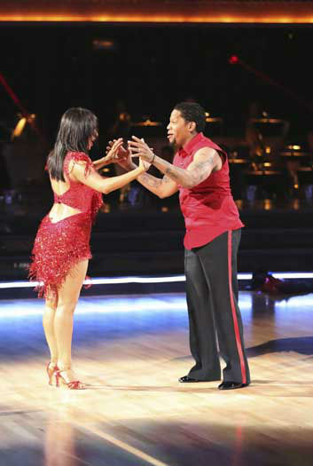 "<div class=""meta ""><span class=""caption-text "">DANCING WITH THE STARS - ""Episode 1601"" -- ""Dancing with the Stars"" was back with an all-new cast of fresh faces hitting the dance floor. The competition began with the two-hour Season 16 premiere, live, MONDAY, MARCH 18 (8:00-10:01 p.m., ET) on the ABC Television Network.   (ABC/Adam Taylor) CHERYL BURKE, D.L. HUGHLEY (Photo/Adam Taylor)</span></div>"