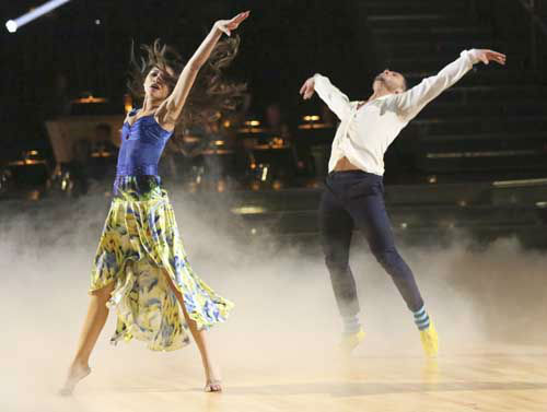 "<div class=""meta ""><span class=""caption-text "">DANCING WITH THE STARS - ""Episode 1601"" -- ""Dancing with the Stars"" was back with an all-new cast of fresh faces hitting the dance floor. The competition began with the two-hour Season 16 premiere, live, MONDAY, MARCH 18 (8:00-10:01 p.m., ET) on the ABC Television Network.   (ABC/Adam Taylor) ZENDAYA, VAL CHMERKOVSKIY (Photo/Adam Taylor)</span></div>"