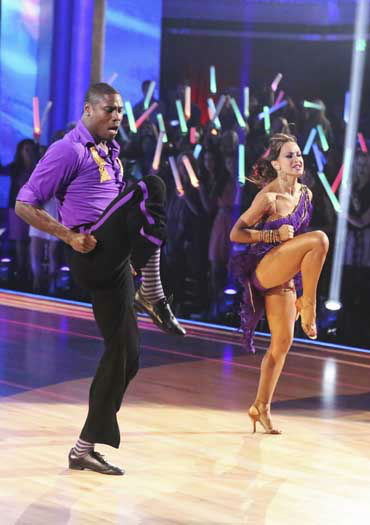 "<div class=""meta ""><span class=""caption-text "">DANCING WITH THE STARS - ""Episode 1601"" -- ""Dancing with the Stars"" was back with an all-new cast of fresh faces hitting the dance floor. The competition began with the two-hour Season 16 premiere, live, MONDAY, MARCH 18 (8:00-10:01 p.m., ET) on the ABC Television Network.   (ABC/Adam Taylor) JACOBY JONES, KARINA SMIRNOFF (Photo/Adam Taylor)</span></div>"