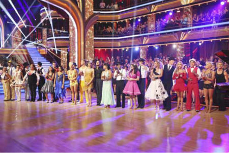 DANCING WITH THE STARS - &#34;Episode 1602&#34; - The competition heats up on &#34;Dancing with the Stars&#34; as the celebrities take on new dance routines and fight for survival, MONDAY, MARCH 25 &#40;8:00-10:02 p.m., ET&#41;. The couples will be performing a Jive, Quickstep or Jazz routine. &#40;ABC&#47;Adam Taylor&#41; KARINA SMIRNOFF, JACOBY JONES, SHARNA BURGESS, ANDY DICK, WYNONNA JUDD, TONY DOVOLANI, DOROTHY HAMILL, TRISTAN MACMANUS, ALEXANDRA RAISMAN, PETA MURGATROYD, SEAN LOWE, ZENDAYA, VAL CHMERKOVSKIY, CHERYL BURKE, D.L. HUGHLEY, LISA VANDERPUMP, GLEB SAVCHENKO, KYM JOHNSON, INGO RADEMACHER, LINDSAY ARNOLD, VICTOR ORTIZ, KELLIE PICKLER, DEREK HOUGH <span class=meta>(Photo&#47;Adam Taylor)</span>