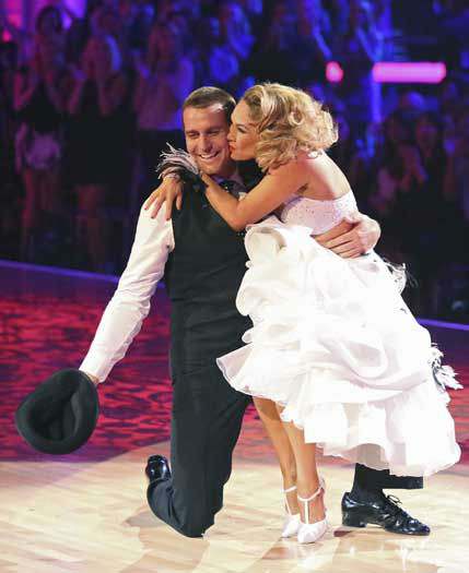 DANCING WITH THE STARS - &#34;Episode 1602&#34; - The competition heats up on &#34;Dancing with the Stars&#34; as the celebrities take on new dance routines and fight for survival, MONDAY, MARCH 25 &#40;8:00-10:02 p.m., ET&#41;. The couples will be performing a Jive, Quickstep or Jazz routine. &#40;ABC&#47;Adam Taylor&#41; INGO RADEMACHER, KYM JOHNSON <span class=meta>(Photo&#47;Adam Taylor)</span>
