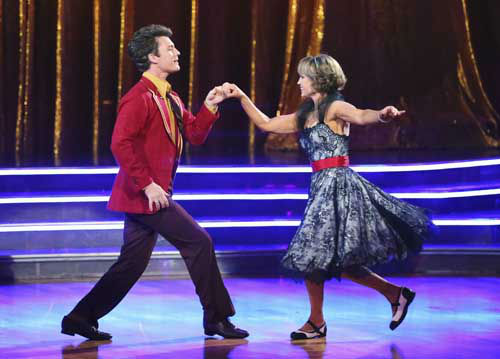 DANCING WITH THE STARS - &#34;Episode 1602&#34; - The competition heats up on &#34;Dancing with the Stars&#34; as the celebrities take on new dance routines and fight for survival, MONDAY, MARCH 25 &#40;8:00-10:02 p.m., ET&#41;. The couples will be performing a Jive, Quickstep or Jazz routine. &#40;ABC&#47;Adam Taylor&#41; TRISTAN MACMANUS, DOROTHY HAMILL <span class=meta>(Photo&#47;Adam Taylor)</span>