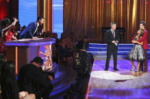 "<div class=""meta ""><span class=""caption-text "">DANCING WITH THE STARS - ""Episode 1602"" - The competition heats up on ""Dancing with the Stars"" as the celebrities take on new dance routines and fight for survival, MONDAY, MARCH 25 (8:00-10:02 p.m., ET). The couples will be performing a Jive, Quickstep or Jazz routine. (ABC/Adam Taylor) CARRIE ANN INABA, BRUNO TONIOLI, TOM BERGERON, DOROTHY HAMILL, TRISTAN MACMANUS (Photo/Adam Taylor)</span></div>"