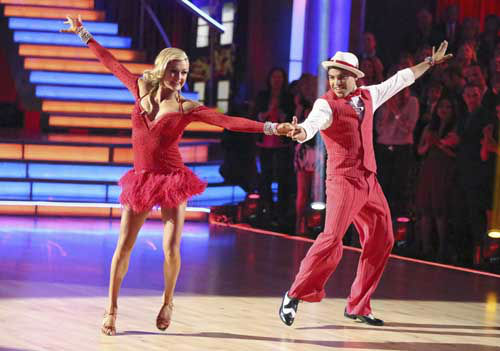 "<div class=""meta image-caption""><div class=""origin-logo origin-image ""><span></span></div><span class=""caption-text"">DANCING WITH THE STARS - ""Episode 1602"" - The competition heats up on ""Dancing with the Stars"" as the celebrities take on new dance routines and fight for survival, MONDAY, MARCH 25 (8:00-10:02 p.m., ET). The couples will be performing a Jive, Quickstep or Jazz routine. (ABC/Adam Taylor) LINDSAY ARNOLD, VICTOR ORTIZ (Photo/Adam Taylor)</span></div>"